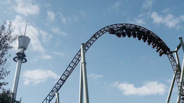 Photo of Inside Top Hat Inversion on Helix Roller Coaster at Liseberg