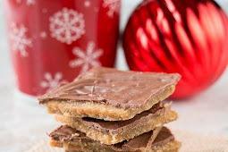 CHRISTMAS CRACK AKA SALTINE CRACKER TOFFEE