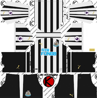 Newcastle United FC 2018/19 Kit - Dream League Soccer Kits