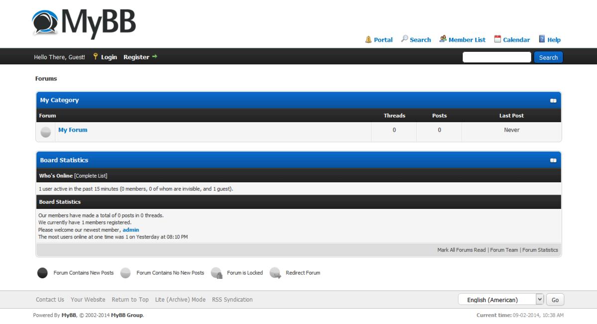 MyBB 1.8.20 chạy được trên PHP 7.2 và jQuery được nâng cấp lên 3.0.0