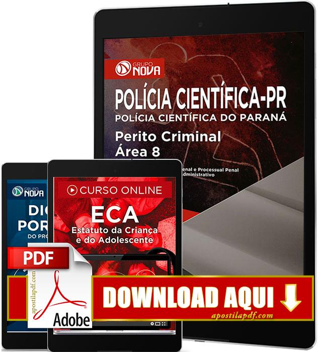 Apostila Polícia Científica PR 2017 PDF Download Perito Criminal Área 8
