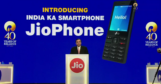 Jio Phone, 'Effectively Free', Launched