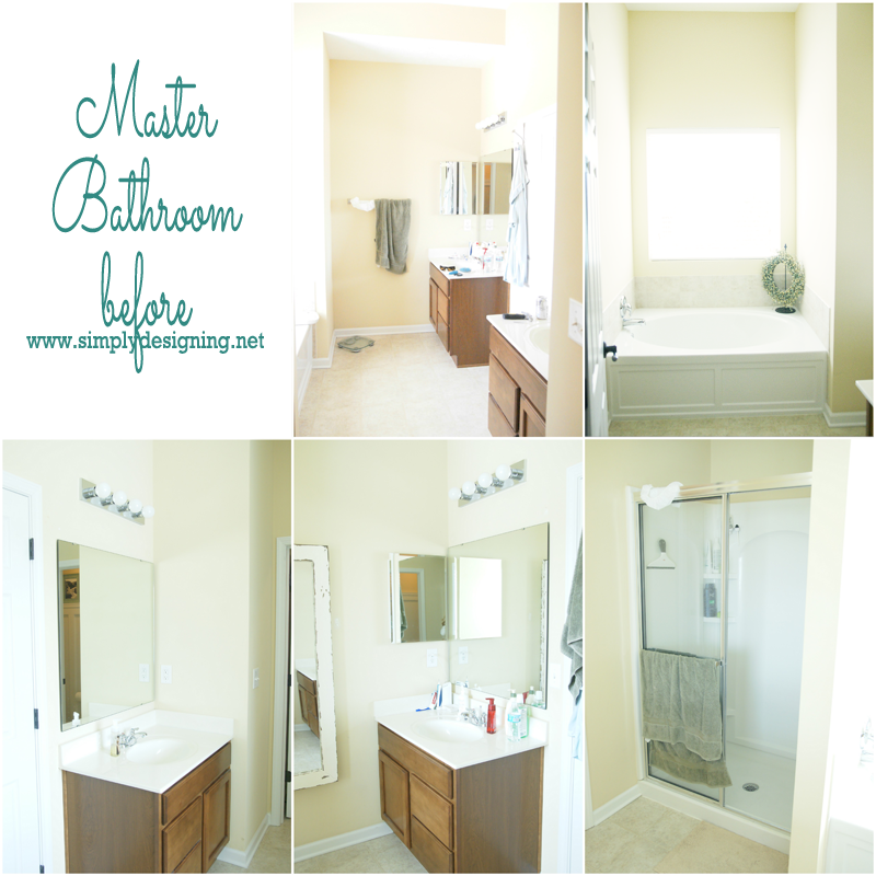 Master Bathroom Before - this remodel is going to be amazing! Here is what it looked like before! | #bathroom #remodel #homeimprovement
