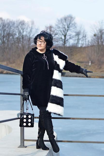 Black and white fashion style