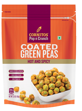 Cornitos Winter Special: Coated Green Peas under Pop n Crunch range