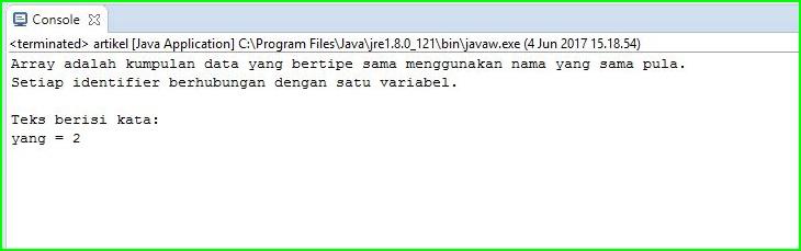 Program Java - Menghitung Jumlah Kata Pada Kalimat Menggunakan While
