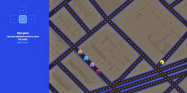 Bermain Pac-Man di Google Map - April Mop