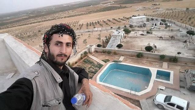 """منزل البغدادي  زعيم """"داعش""""  في الصحراء مع مسبح ومزرعة للابل والمواشي!"""
