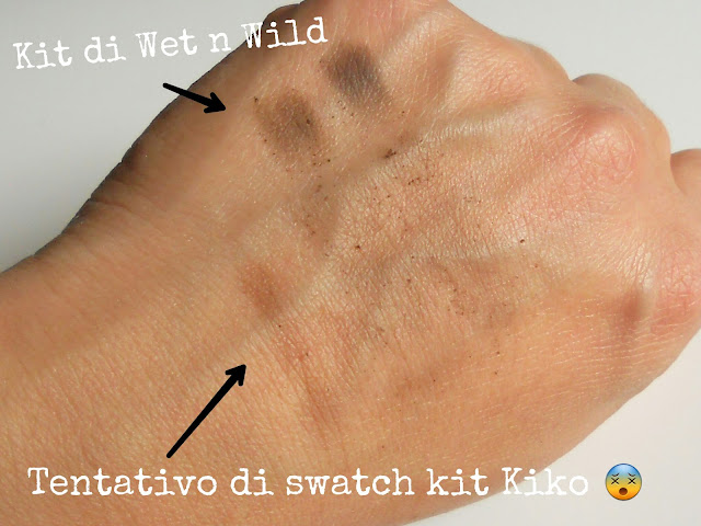 differenza kit sopracciglia kiko e wet n wild