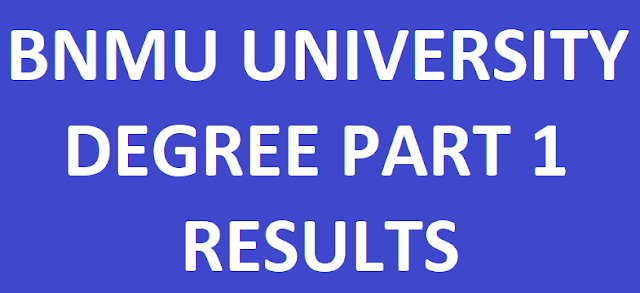 BNMU Degree Part 1 Results