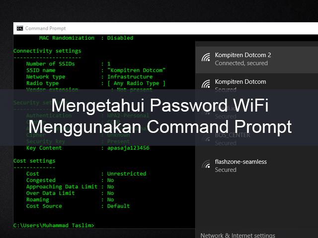 Cara Mudah Mengetahui Password WiFi Menggunakan CMD 1