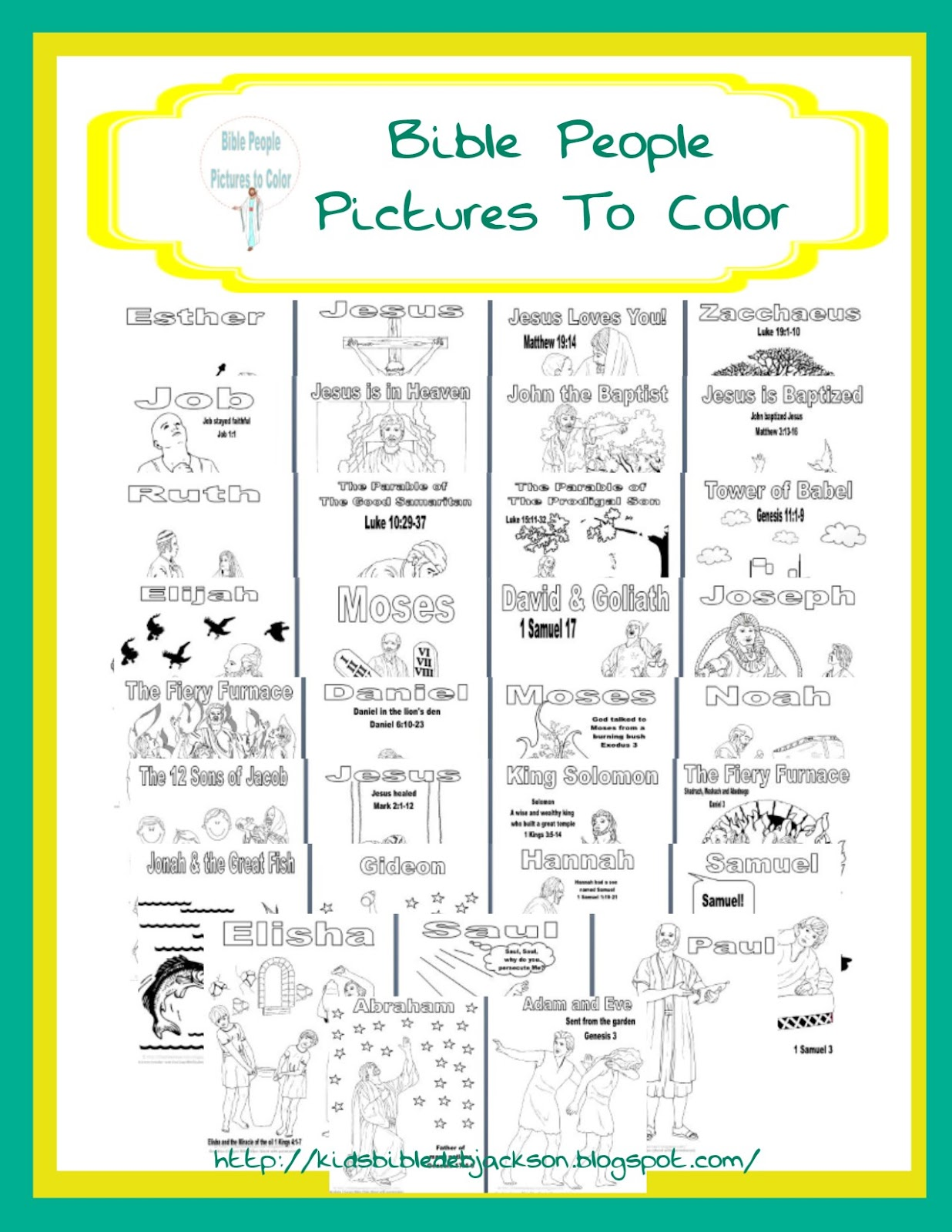 Bible Fun For Kids Bible Pictures To Color