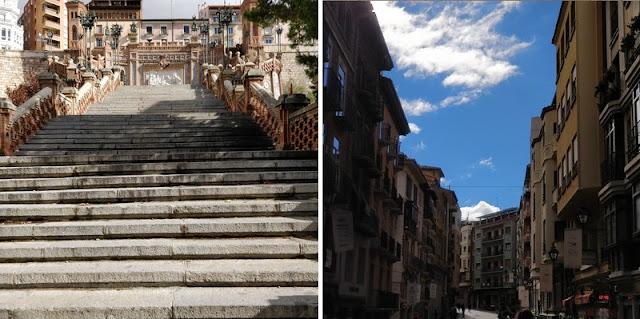 the green frog souvenirs du mois de novembre 2018 visite ville espagnole teruel escalita escaliers rues médiévales
