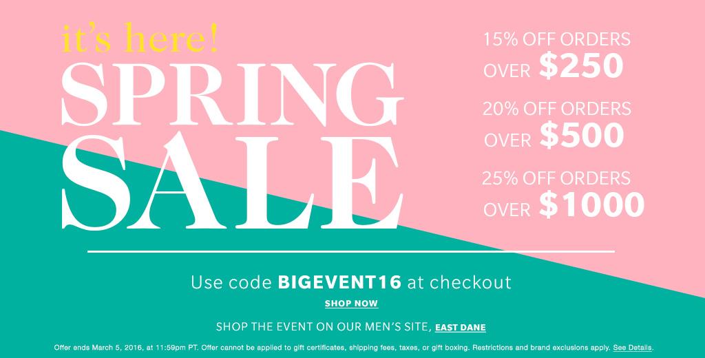 Shopbop's Spring Sale