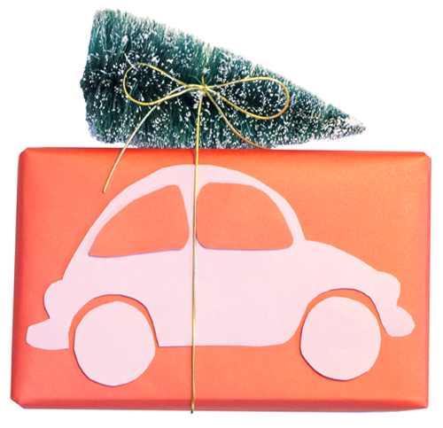 Cute Christmas Car Gift Wrap | LLK-C.com
