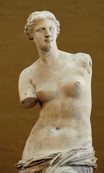 The Venus de Milo Louvre Museum Paris, France