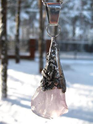 artystyczny wisior z ametystym magia kamieni biżuteria z ametystem 2016