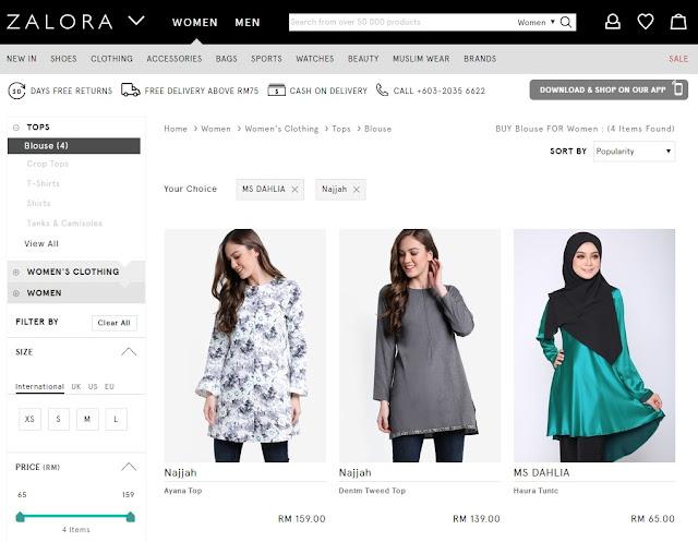 Zalora, zalora malaysia, blouse, blouse muslimah, tops, blouse murah, shopping blouse, beli blouse, blouse zalora, blouse moden, blouse muslimah moden