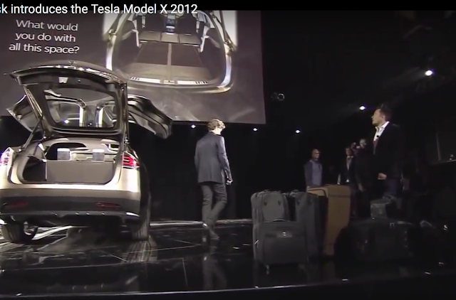 Model X can fit lots of luggage with all three rows of seating, or a bike with both tires in with seats down.