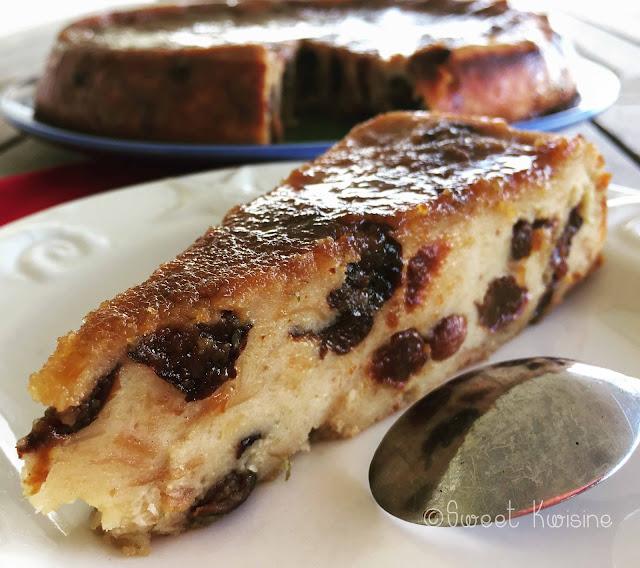 sweetkwisine, pudding, cuisine antillaise, martinique rhum, pruneaux raisins, pain
