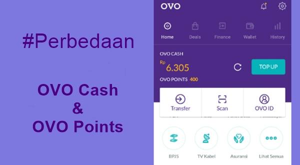 Perbedaan OVO Cash dan OVO Points