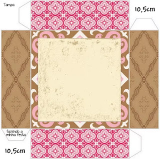 Retro Pink and Brown: Free Printable Boxes.