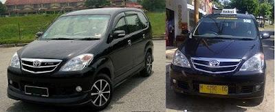 Toyota Avanza menjadi Taksi