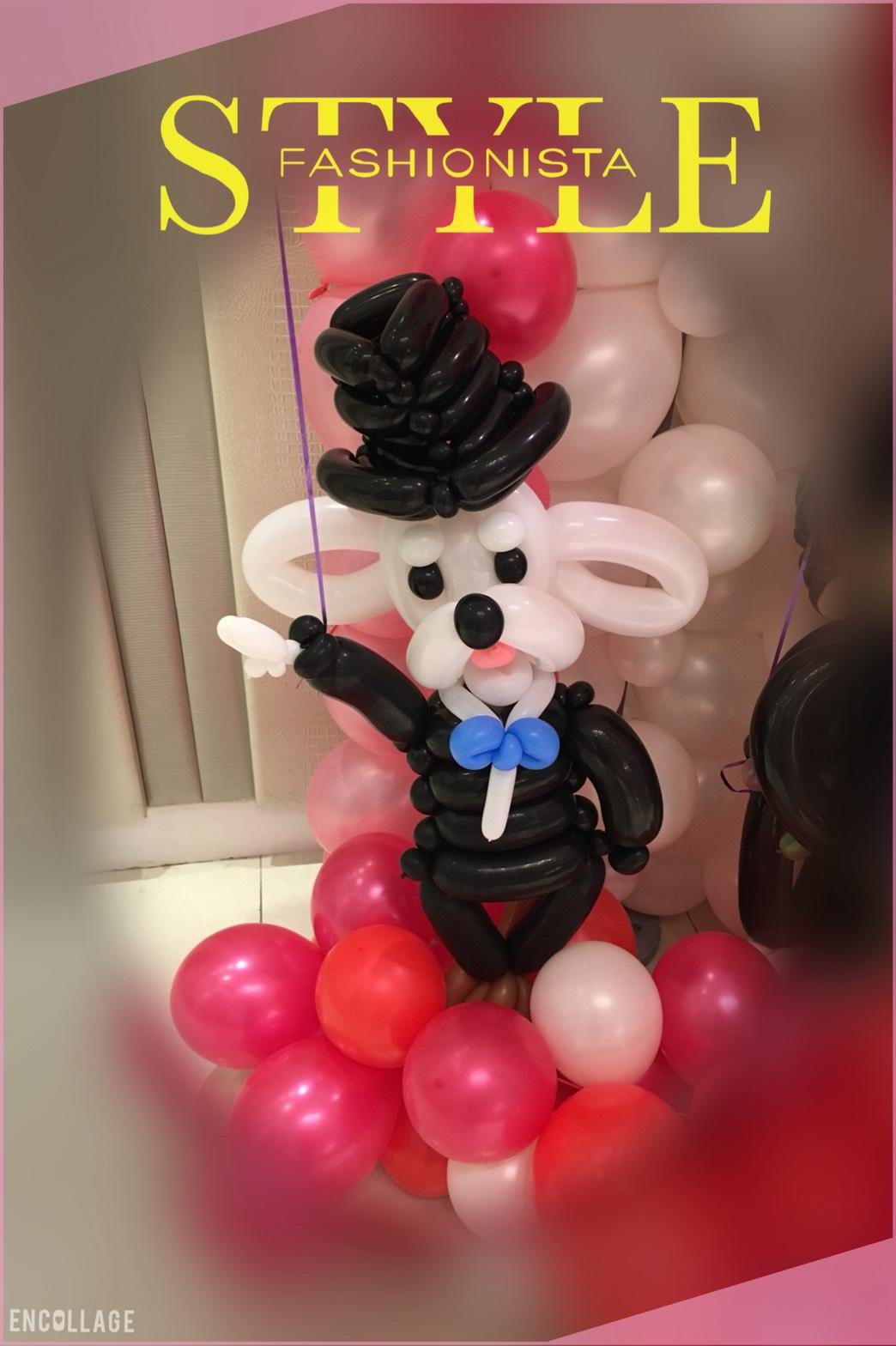 氣球婚禮佈置-紳士狗