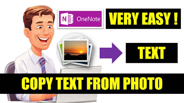 Copy text from any photo or image (Copy photo text). OneNote copy text from picture. PC Tools, Window Solution and How To.