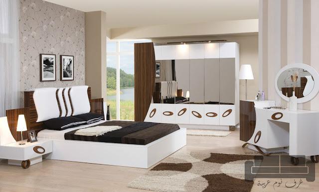 غرف نوم تركية كاملة 2016,غرفة نوم تركية كاملة للبيع, صناعة مصرية, غرف نوم مودرن ابيض في بني