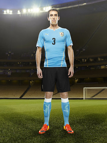 finest selection 85da5 542ed The new Uruguay 2014 World Cup Home Jersey comes in sky blue with gold  applications, while the Away Jersey is white with sky blue as secondary  color.