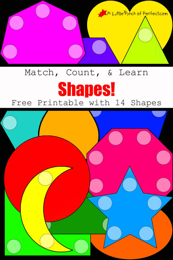 photograph about Printable Pictures of Shapes called Recreation, Depend, Understand Designs Names Printable for Children -