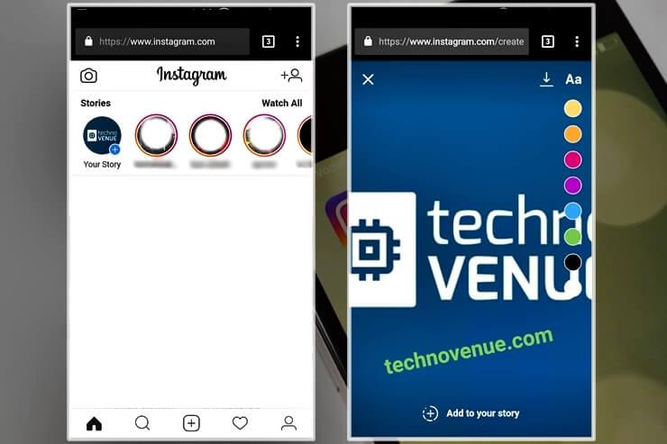 Instagram Mobil Tarayıcıdan Hikaye Eklemek