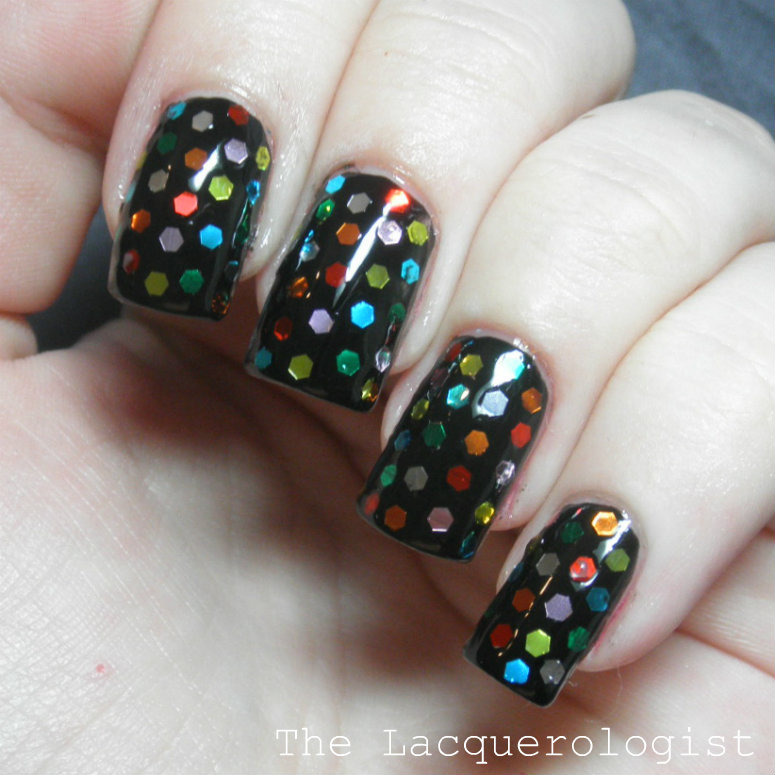 Holiday Nails: New Years Eve Rainbow Bling! • Casual Contrast