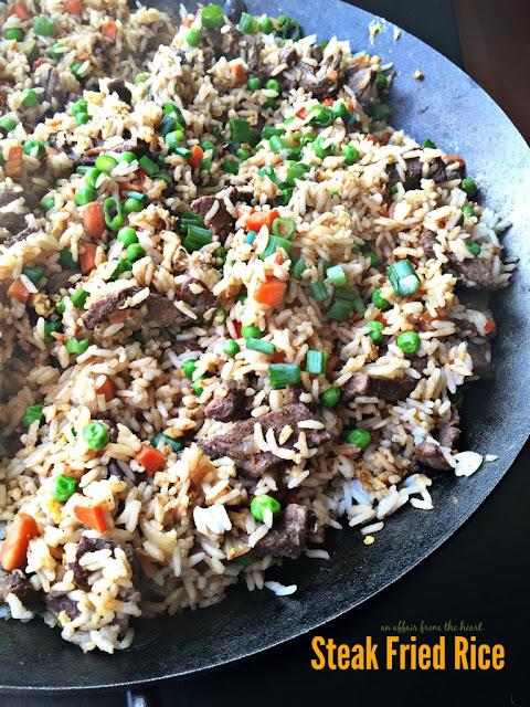 Featured Recipe | Steak Fried Rice from An Affair From the Heart #recipe #SecretRecipeClub #steak #friedrice