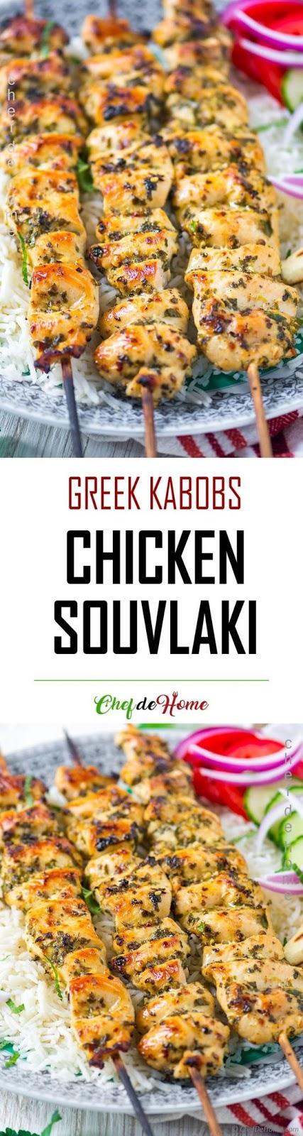 Chicken Souvlaki recipe (Skewers) with Pita Bread
