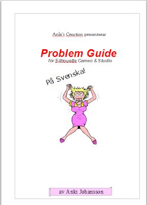En Svensk Silhouette Cameo och Studio Problem Guide