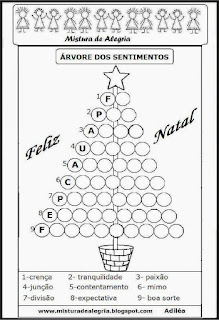 Árvore de natal dos sentimentos