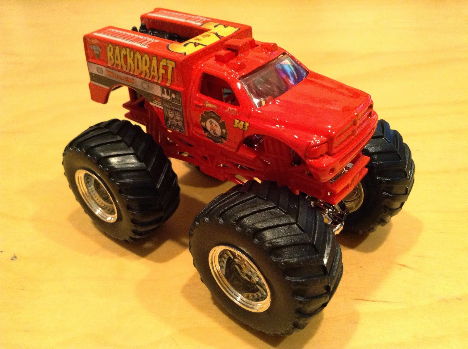 julian 39 s hot wheels blog backdraft monster jam truck. Black Bedroom Furniture Sets. Home Design Ideas