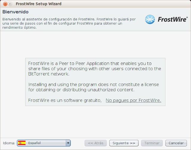 Como instalar FrostWire paso a paso
