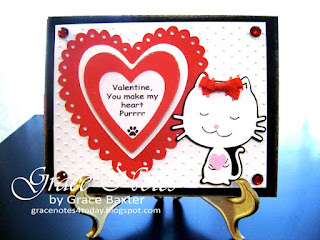 kitty and hearts valentine by Grace Baxter
