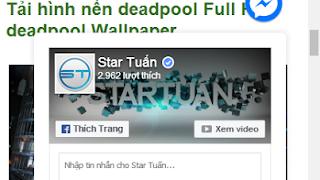 Tiện ích Facebook Messenger Chatbox Cho Blogspot