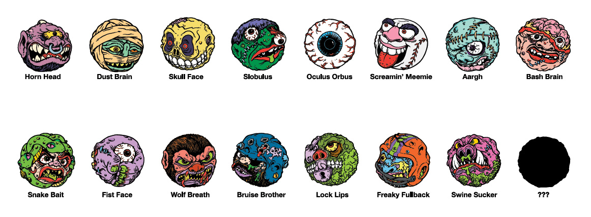 Kidrobot  Madballs 1 1//2-Inch Key Chain Dust Brain