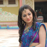 Reshma latest images in purple saree
