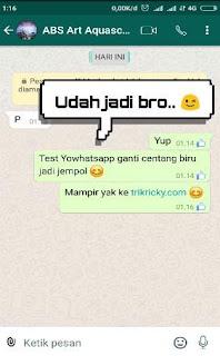 Ubah centang biru whatsapp jadi icon 3