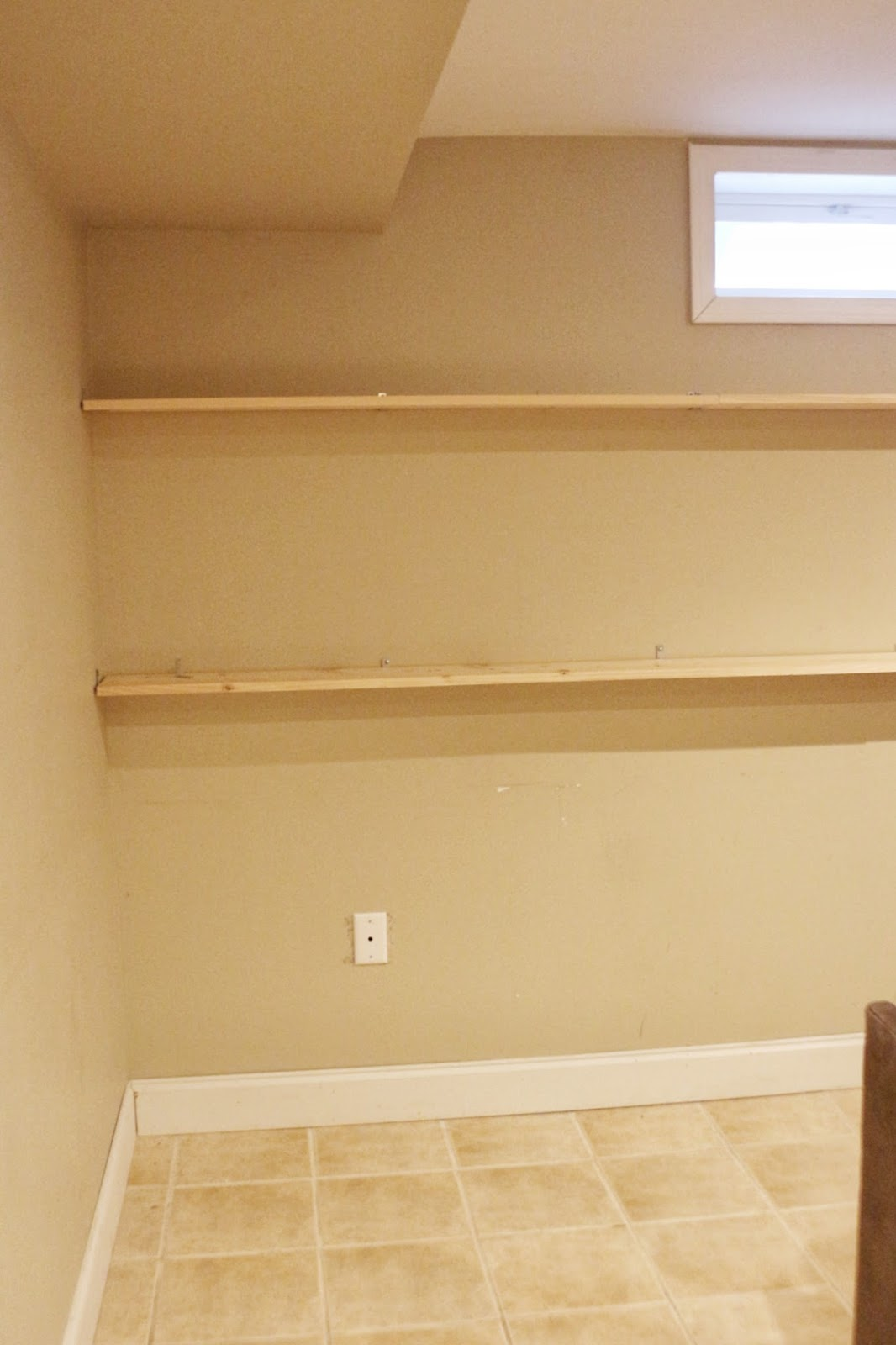 diy wall to wall shelves