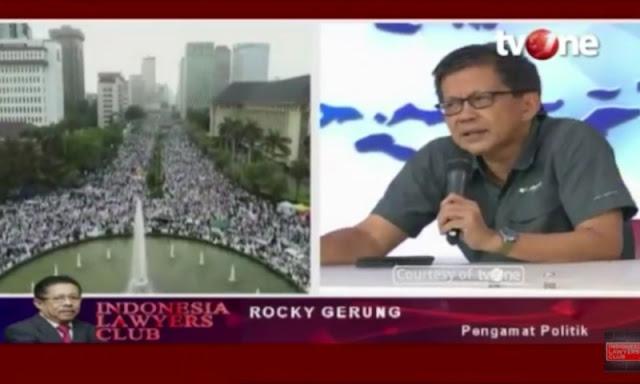 Reuni 212 Tak Dimuat Media, Rocky Gerung: Pemalsuan Sejarah dan Penggelapan Pers Indonesia
