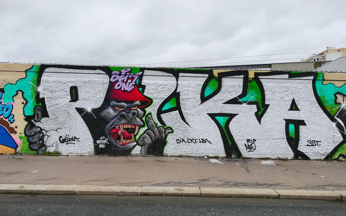 graffiti paris 19 gorille