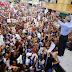 Abinader y Carolina Mejía realizan cierre de su campaña en Santiago