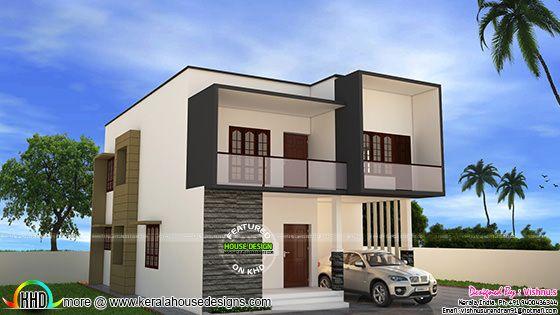 Simple modern house by Vishnu S